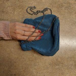 Blue Beaded Clutch